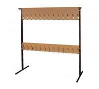 Вешалка для школьного гардероба двухсторонняя 24 места 120х40х170 см
