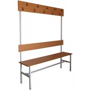 Вешалка для гардероба со скамьей 150х40х170 см