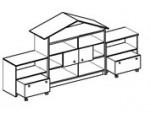 Игровой модуль для детского сада - Домик