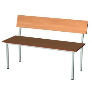 Скамья для гардероба школы, со спинкой, ЛДСП 1200х400х440