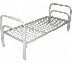 Кровать металлическая, спинка П-образная двойная