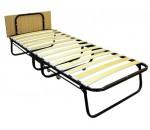 """Кровать-раскладушка с матрасом """"Capry"""" 190х80 см, усиленная, спинка"""