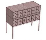 Шкаф каталожный 24 ящика, на металлокаркасе