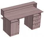 Стол-кафедра с 2 тумбами 3 ящика