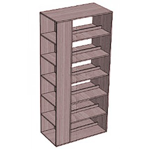 Стеллаж-шкаф 5 полок 3-сторонний