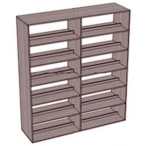 Стеллаж-шкаф 5 полок 2-сторонний широкий