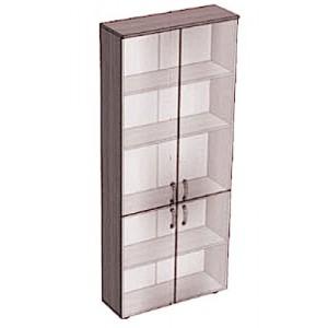 Стеллаж-витрина закрытый, стекло, 4 дверки