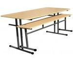 Обеденная зона школьная, 6-местная (стол +2 скамейки) OZ-1-150