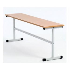 Скамья для школьной столовой 2-местная, ЛДСП/пластик 120см
